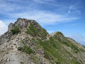 仙丈ケ岳稜線