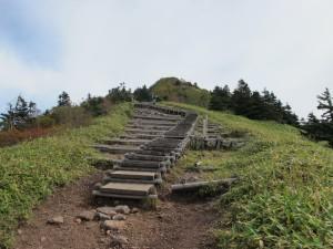 四阿山稜線