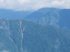 西穂山荘遠望