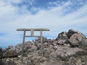 茶臼岳鳥居